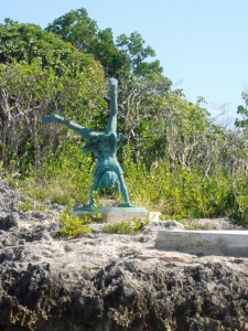 Playing Girl Statue in Hopetown